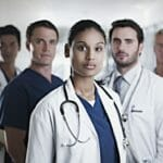 Group of doctors looking at camera
