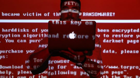 Red Ransomware Message